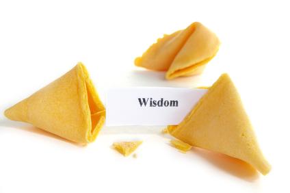 Wisdom fortune cookie